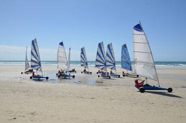 Camping near seaside floats sail Saint Jean de Monts Les Places Dorées