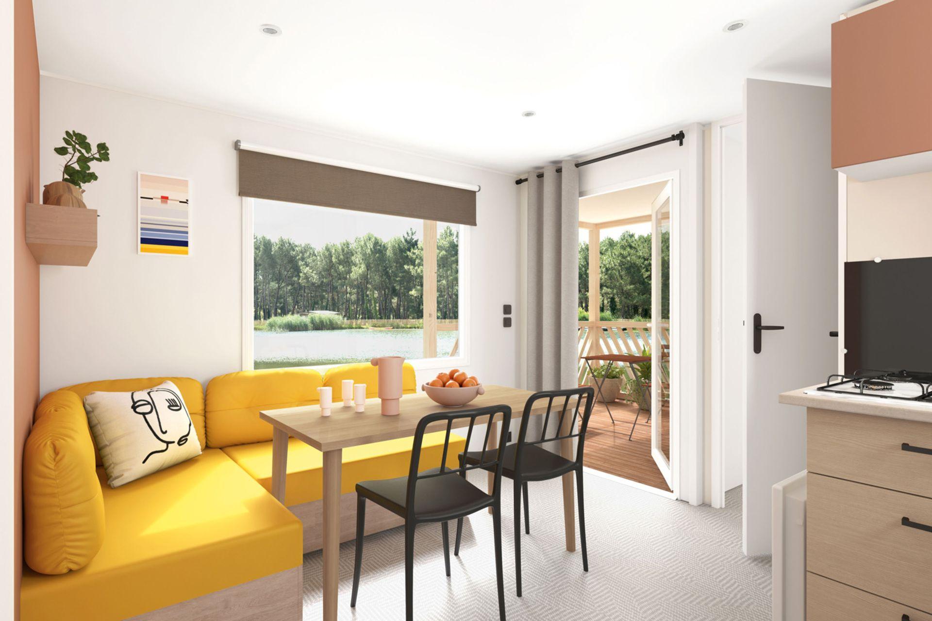 Mobile-home accommodation with loggia Saint Jean de Monts Les Places Dorées