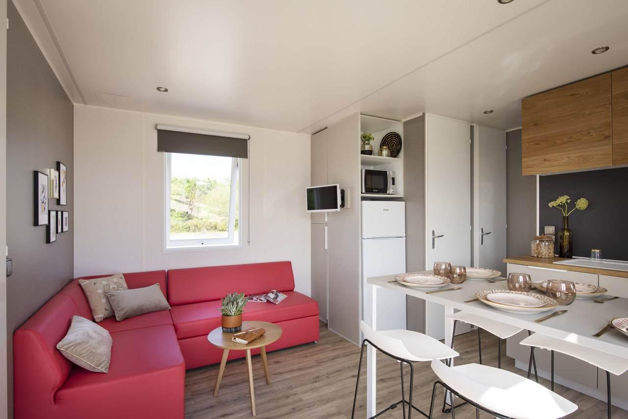 Hébergement mobil-home avec terrasse Saint Jean de Monts Les Places Dorées